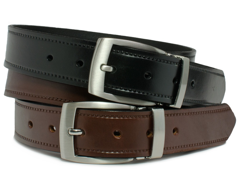 Nickel Smart™ Genuine Leather Dress Belt Set