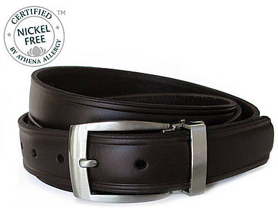 Nickel Smart™ Genuine Leather Nickel Free Belt-Morrow Mountain Brown