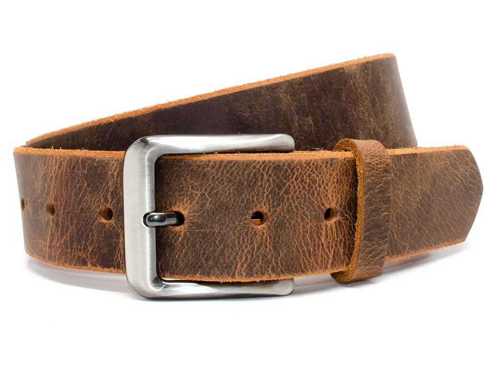 Nickel Smart™ Roan Mountain Distressed Leather Belt