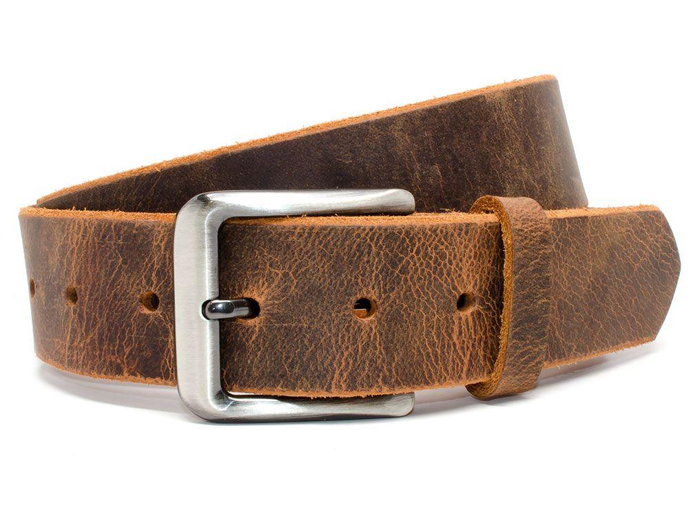 Nickel Smart™ Roan Mountain Distressed Leather Belt