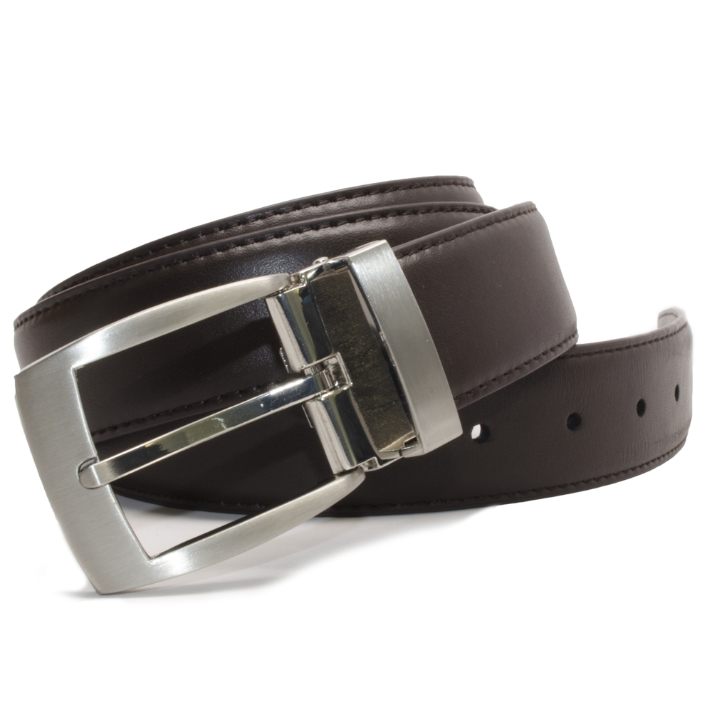 Nickel Smart™ Men's Brown Leather Dress Belt
