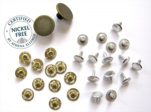 Nickel Smart Buttons and Rivets