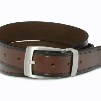 Nickel Smart™ Genuine Leather Nickel Free Belt - Chestnut Knob