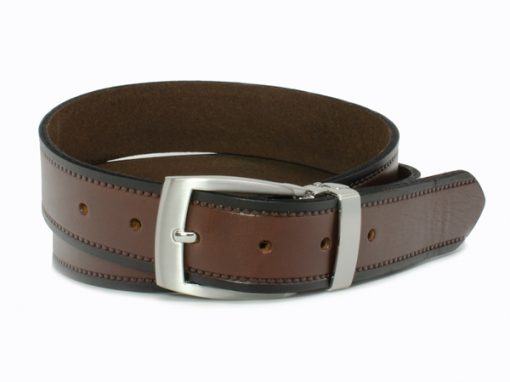 Nickel Smart™ Genuine Leather Nickel Free Belt - Chestnut Knob