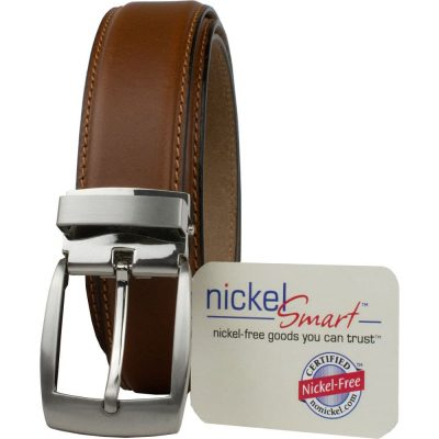 tan nickel free dress belt