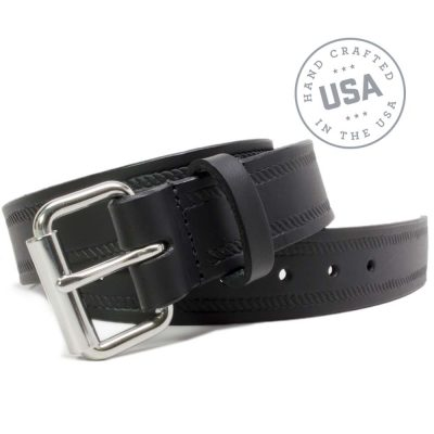Nickel Smart™ Genuine Leather Nickel Free Belt -Black Rope