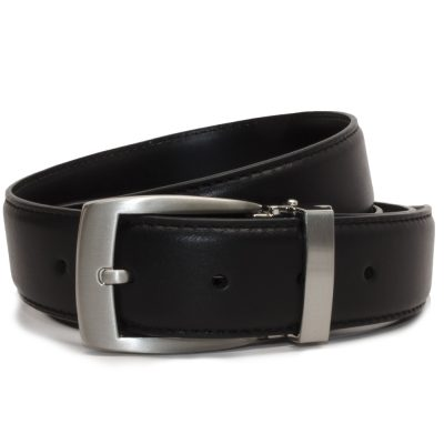Nickel Smart™ Men's Black Leather Dress Belt