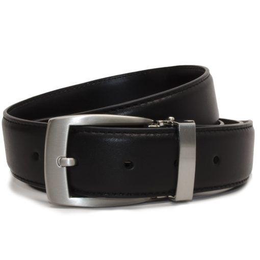 Nickel Smart™ Men's Black Leather Dress Belt