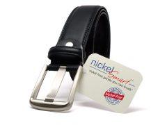 Nickel Smart™ Black Wide Pin Belt