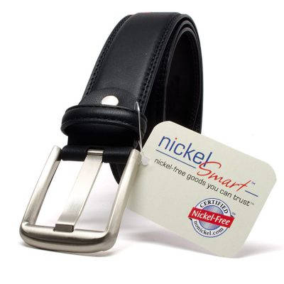 Nickel Smart™ Black Wide Pin Belt